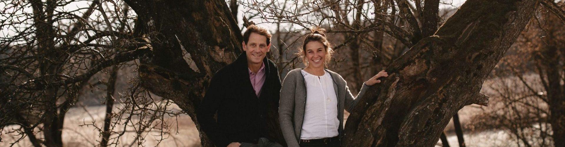 Catharina und Helwig Falch vor Birnbaum