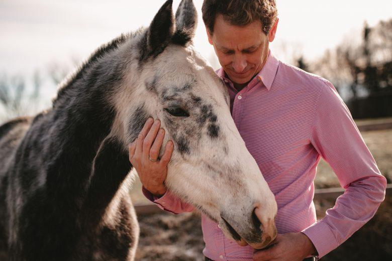 Helwig Falch mit Pferd Danish King